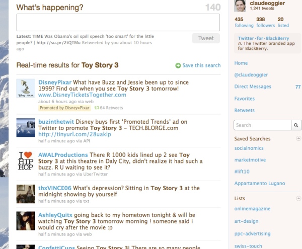 Disney Pixar Promoted Tweets